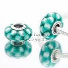 S925 Sterling Silver blue ocean Murano Glass Beads Charms Fits European jewelry Bracelets ZS298