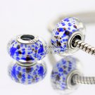 S925 Silver ocean faceted Murano Glass Beads Charms fit European jewelry bracelet 237