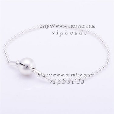 S925 Silver Bracelet ESS - Collection Clasp Bracelet Beaded Sterling Silver