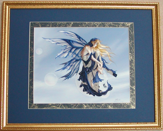Blue Dream by Nene Thomas Double Matted & Framed