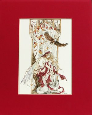Nene Thomas Virtues Introspection Autumn Matted Print