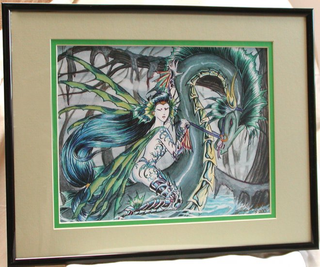 Nene Thomas Sivitri Scarzam LE Double Matted & Framed