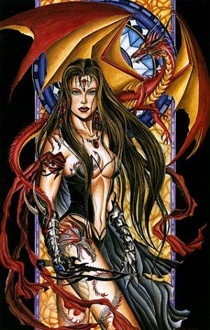 Nene Thomas Corona Dragon Witch Limited Edition Print