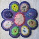 """""""Eggs"""" Candle Mat Penny Rug With Vines And Flowers For Easter PATTERN #155"""