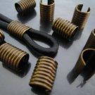 Finding - 6 pcs Antique Brass Adjustable Crimp Round Tone Tube Curve Fold Over End Cap 12mm x 9mm