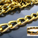Finding - 1 Yard of Gold Large Chain Fashion Curb Link ( 17mm x 11mm width each Oval )