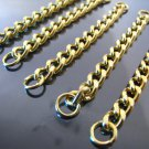 Finding - 4 pcs Gold Chain Link Bracelet Charm Base with Opening Jump Ring ( 70mm Length )