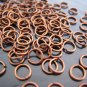 Finding - 20 pcs 6mm Red Copper Open Jump Rings
