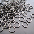 Finding - 20 pcs 6mm Black Open Jump Rings