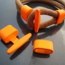 Finding - 1 Set Neon Orange T Bar Hook Loop Clasp Toggle