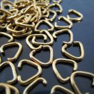 Finding - 20 pcs Gold Triangle Shape Open Jump Rings Connectors 7mm x 6mm