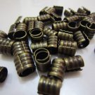 Finding - 6 pcs Antique Brass Adjustable Crimp Round Tone Tube Curve Fold Over End Cap 7mm x 6.5mm