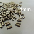 Finding - 20 pcs Antique Brass Round End Cap with Loop 6mm x 2mm ( inside 1mm Diameter )