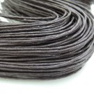2 Yards 1.5mm Dark Brown Round Cotton Wax Cords