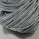 2 Yards 1.5mm Grey Round Cotton Wax Cords