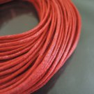 2 Yards 1.5mm Red Round Cotton Wax Cords