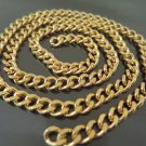 Finding - 1 Yard Gold Iron Chain with Unfinished Link ( 7mm width in each oval )
