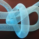1 Yard of Light Blue Horsehair ( Crin ) Tube Crinoline for Hair Accessories ( 15mm Width )