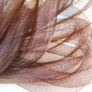 1 Yard of Brown Horsehair ( Crin ) Tube Crinoline for Hair Accessories ( 15mm Width )