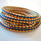 1 Yard of 5mm Blue Yellow and Orange Color Braided String Cord
