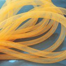 2 Yards of Orange Horsehair ( Crin ) Tube Crinoline for Hair Accessories ( 7mm Width )