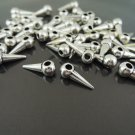 Finding - 10 pcs Antique Silver Small Spike Charm 13mm x 4mm