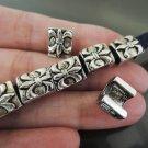 Finding - 10 pcs Antique Silver Fleur-de-lis Beads ( 10mm x 8mm x 6mm )