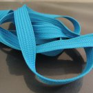 3 Yards of 12mm Turquoise Blue Flat Cotton Cord