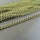 Finding - 1 Yard Antique Brass Little Curb Chain of Unfinished Link ( 2.5mm )