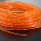 10 Yards of Orange Clear with Metallic Silver Dust Round Rubber Plastic Cord ( 2mm Width )