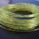 10 Yards of Green Clear with Metallic Silver Dust Round Rubber Plastic Cord ( 2mm Width )