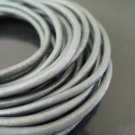 1 Yard 3mm Metallic Silver Genuine Round Leather Cord