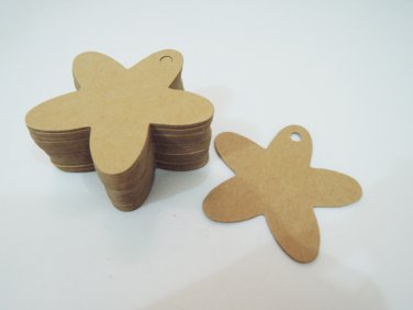 50pcs Kraft Paper Tags Hang Tag Flower Price Tags