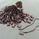 100pcs Dark Brown Hang Tag String with Plastic Fastener