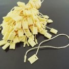 100pcs Yellow Hang Tag String with Plastic Fastener