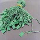 100pcs Green Hang Tag String with Plastic Fastener