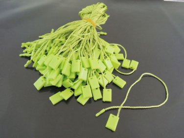 100pcs Light Green Hang Tag String with Plastic Fastener