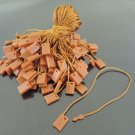 100pcs Topaz Brown Hang Tag String with Plastic Fastener