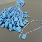 100pcs Blue Brown Hang Tag String with Plastic Fastener