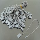 100pcs Grey Hang Tag String with Plastic Fastener