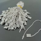 100pcs Light Grey Hang Tag String with Plastic Fastener