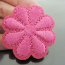 Pink Flower Patches Iron On Patch Applique Embroidered Patch Sew On Patch