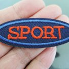 SPORT Letter Iron On Patch Applique Embroidered Patch Sew On Patch