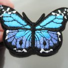 Blue Butterfly Patches Iron On Patch Applique Embroidered Patch Sew On Patch