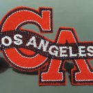 Los Angeles Letter Patches Iron On Patch Applique Embroidered Patch Sew On Patch