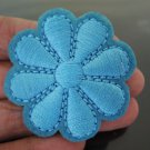 Blue Flower Patches Iron On Patch Applique Embroidered Patch Sew On Patch