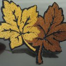 Brown Leaves Patches Iron On Patch Applique Embroidered Patch Sew On Patch
