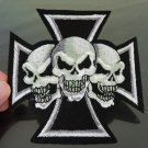 Crucifix Skull Patches Iron On Patch Applique Embroidered Patch Sew On Patch