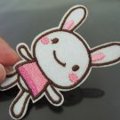 Cute Rabbit Patches Iron On Patch Applique Embroidered Patch Sew On Patch