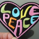 Love Peace Patches Iron On Patch Applique Embroidered Patch Sew On Patch